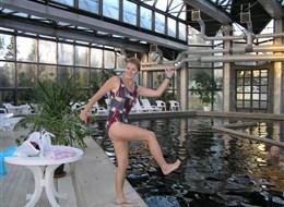 Maďarsko - Oroszháza - termální lázně, vnitřní bazény