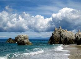 Itálie - Kalábrie - překrásné pobřeží u Capo Spulico