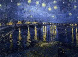 Vincent van Gogh, Hvědná noc nad Rhonou, 1888