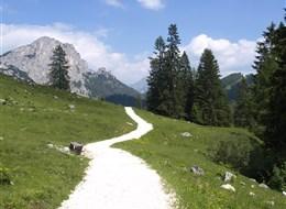 Rakousko - NP Kalkalpen, turistika po horských chodníčcích