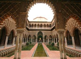 Španělsko - Sevilla - Alcazar, Patio de las Doncellas