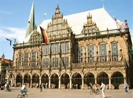 Ostrov Helgoland, německá hanzovní města UNESCO 2020  Německo - Brémy - radnice