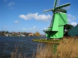 Přírodní parky a ostrovy severu Nizozemska a Gogh 2021  Holandsko - Zaanse Schans, skanzen historické holandské vesnice