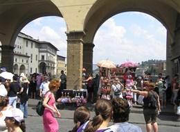Florencie, Garfagnana s koupáním a Carrara 2020  Itálie - Florencie - na Ponte Vecchio