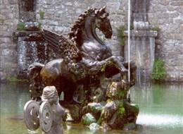 Itálie - vila Lante - Pegasova fontána