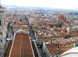 Itálie - Florencie z vrcholu kopule dómu