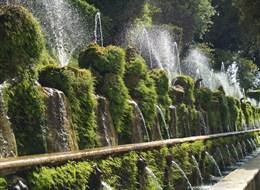 Itálie - Tivoli - Villa d´Este - tzv. Sto fontán