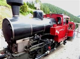 Nostalgický víkend v Solné komoře s párou 2020  Rakousko -  ozubnicová dráha na Schafberg, historická mašinka.