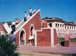 Indie, zlatý trojúhelník, Džajpúr, kraj mahárádžů 2020 Indie Indie - Dillí astronomické observatoř Jantar Mantar, 1724
