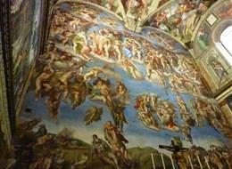 Itálie - Řím - Sixtinská kaple, Poslední soud, Michelangelo, 1535-41