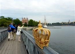 Stockholm, Helsinky, Tallin, Petrohrad, Riga, perly Baltu 2020 Švédsko Švédsko - Stockholm, pohled z mostu Skeppsholmsbron