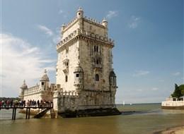 Portugalsko - Lisabon - Torre de Belém, manuelská gotika, 1516-9, Francisco de Arruda