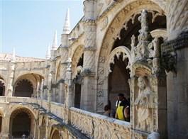Lisabon, královská sídla, krásy pobřeží Atlantiku, Cascais 2021  Portugalsko - Lisabon - klášter sv.Jeronýma, 1501-80, manuelská gotika