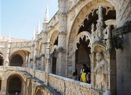 Lisabon, královská sídla, krásy pobřeží Atlantiku, Evora 2020 Lisabon Portugalsko - Lisabon - klášter sv.Jeronýma, 1501-80, manuelská gotika