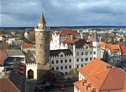 Wroclaw, Budyšín, adventní trhy 2020 Slezsko Německo - Lužice - Budyšín, Serbska wěža