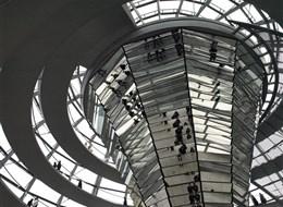 Německo - Berlín - Reichstag, interiéry kopule
