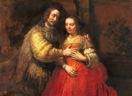 Holandsko - Amsterdam - Rijksmuzeum, Rembrandt van Rijn, Židovská nevěsta