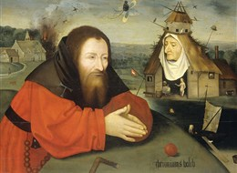 Holandsko - Amsterdam - Rijksmuzeum, Pokušení svatého Antonína, H.Bosch, mezi 1550 až 1600
