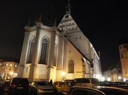 Advent ve Freibergu a slavnost horníků 2020  Německo - Freiberg - noční katedrála P.Marie