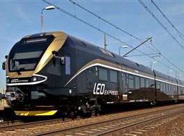 Do Tater za přírodou a termály po železnici 2021  Česká republika - Leo expres, společnost jezdí s elektrickými jednotkami 480 (foto Leo)