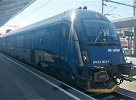 Kouzlo Štýrska rychlovlakem Railjet  a Graz 2020  Rakousko - po celém Rakousku vás doveze tenhle atraktivní fešák - Railjet (foto L.Zedníček)