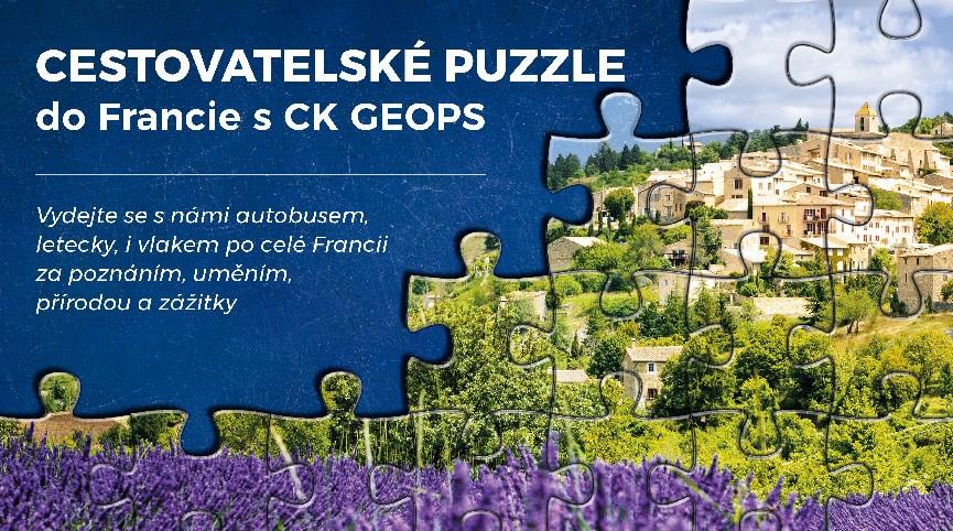 Cestovatelské puzzle po Francii
