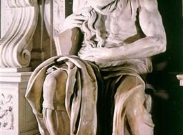 Řím a Vatikán letecky 2021  Itálie -  Řím - Michelangelova socha Mojžíše (1514-16) v S.Pietro in Vincoli