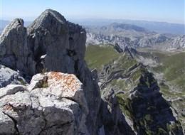 Černá Hora - pohoří Durmitor - Bobotuv Kuk, 4. nejvyšší hora země, 2523 m