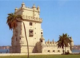 Portugalsko, země mořeplavců, vína a památek 2020 Portugalsko Portugalsko - Lisabon - Belémská věž (Torre de Belém), 1515-21 na paměť výpravy Vasco de Gamy v manuelském stylu