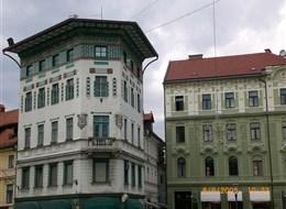 Velikonoce ve Slovinsku a mořské lázně Laguna 2021 Slovinsko Slovinsko - Lublaň, náměstí se secesními domy